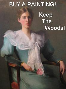 Buy A Painting! Keep The Woods!